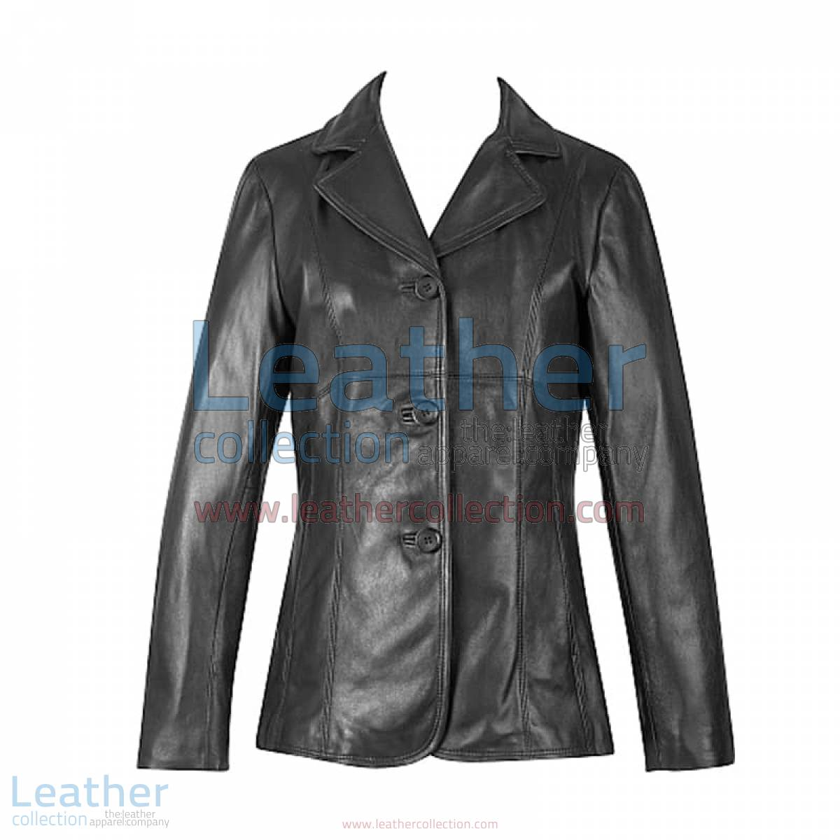 3 Button Lambskin Blazer