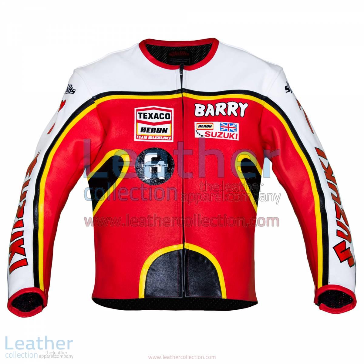 Barry Sheene Suzuki GP 1976 Leather Jacket