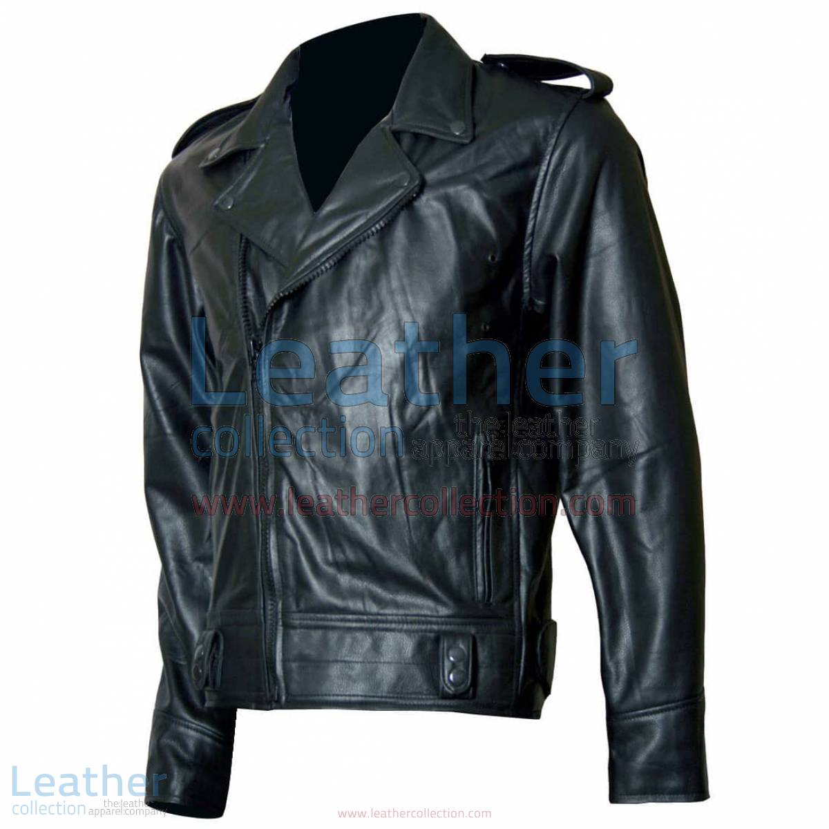 Biker Boyz Smoke Biker Black Leather Jacket