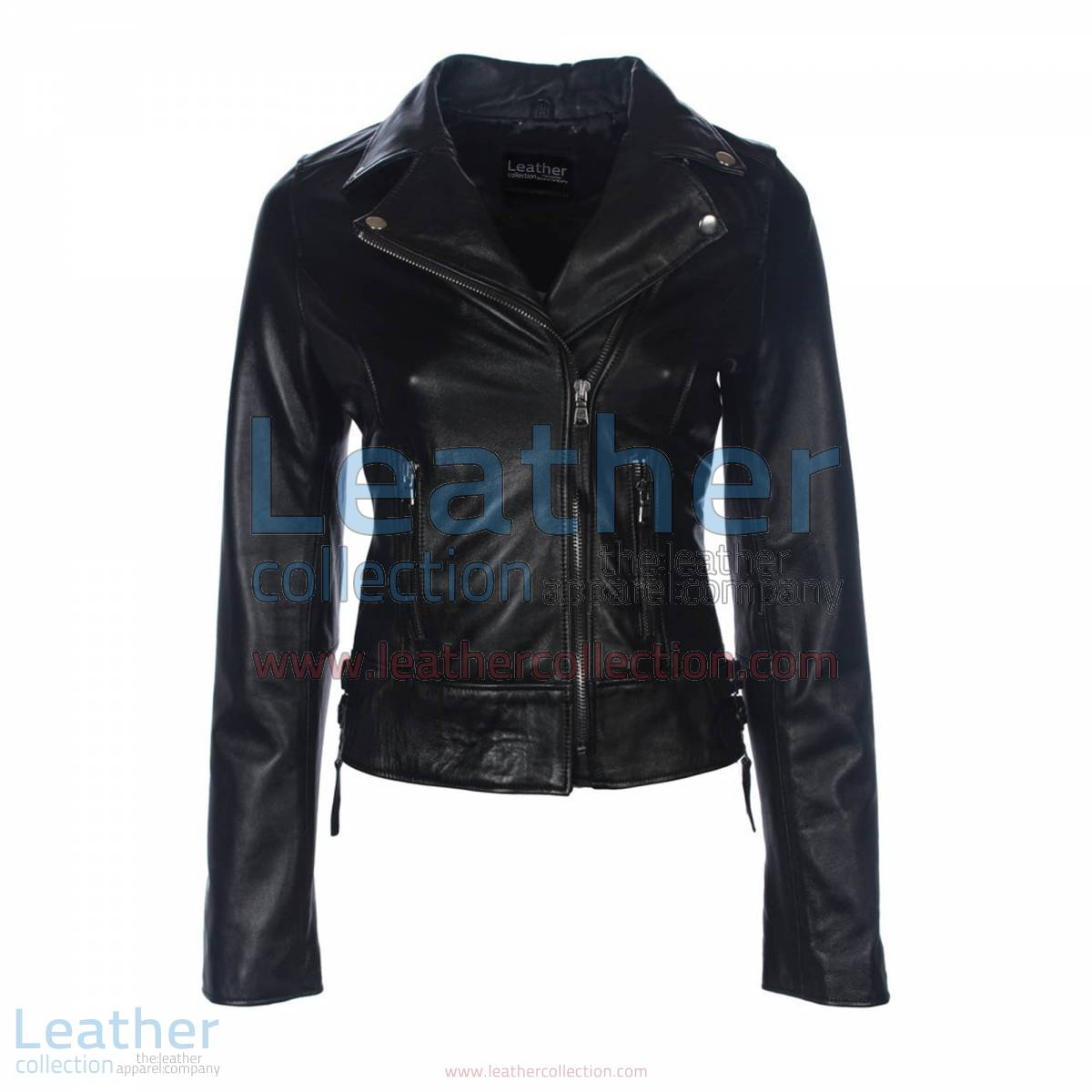 Black Vintage Biker Leather Jacket