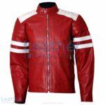 Brad Pitt Fight Club Red Leather Jacket | brad pitt fight club jacket