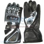 Bravo Grey Motorbike Race Gloves | motorcycle race gloves