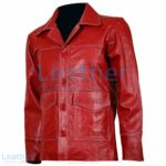 Fight Club Original Red Leather Jacket | fight club jacket