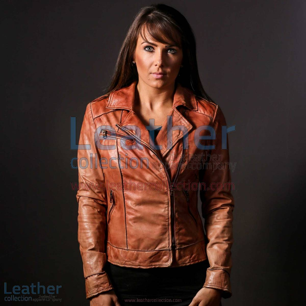 Ginger Leather Jacket for Women