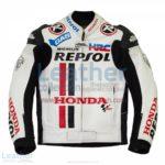 Honda Repsol White Leather Race Jacket | Honda Repsol jacket