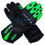 Kawasaki Ninja ZX-6R Leather Motorcycle Gloves   Kawasaki Ninja ZX-6R leather motorcycle gloves