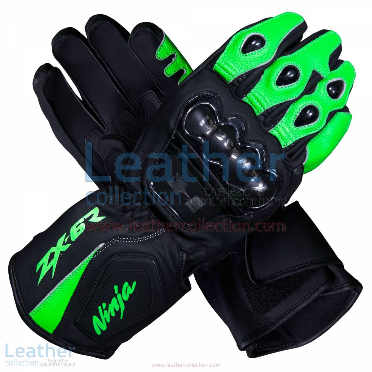 Kawasaki Ninja ZX-6R Leather Motorcycle Gloves