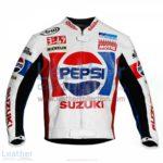 Kevin Schwantz Pepsi Suzuki GP 1988 Motorbike Jacket | Kevin Schwantz Pepsi Suzuki GP 1988 motorcycle Jacket