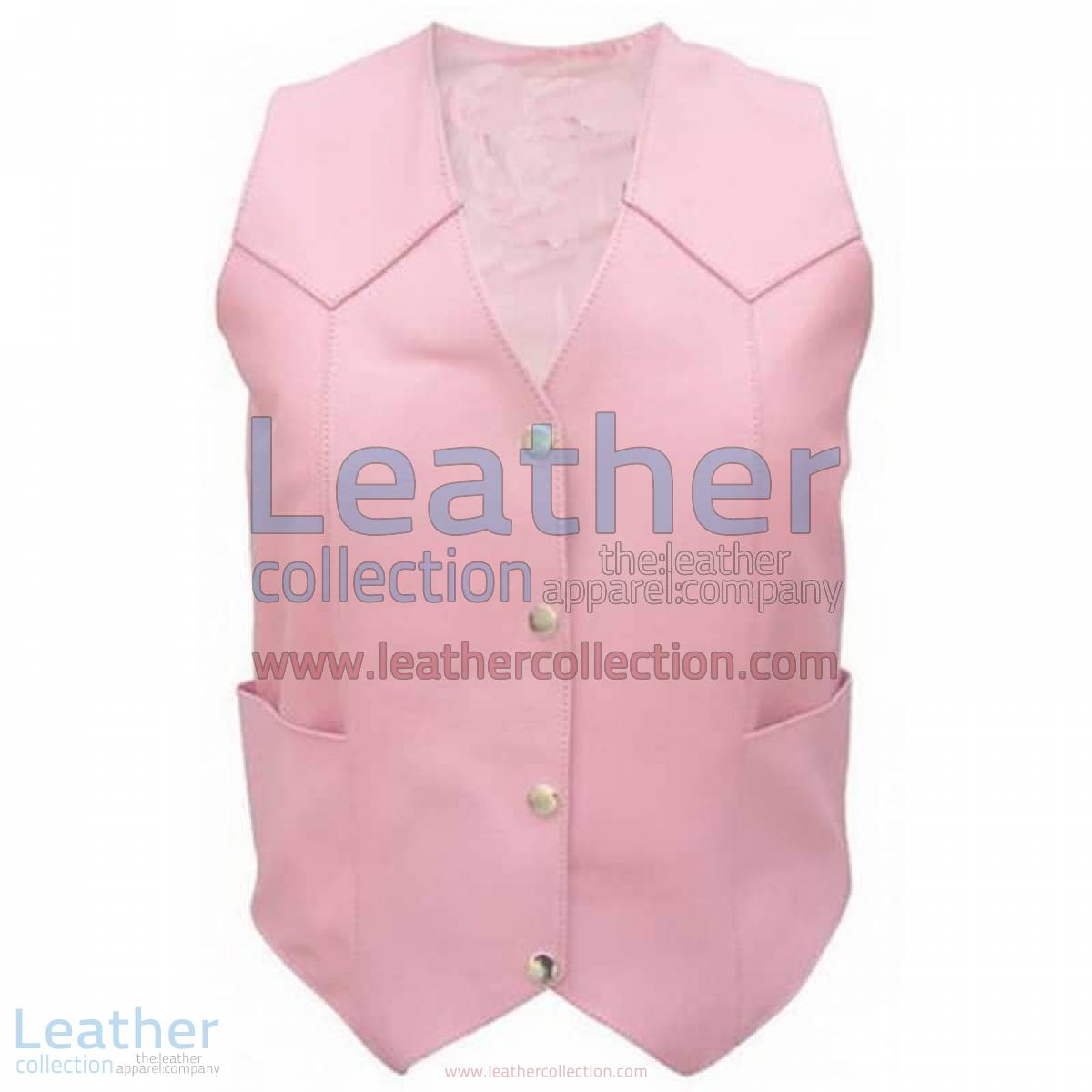 Ladies Pink Basic Plain Vest