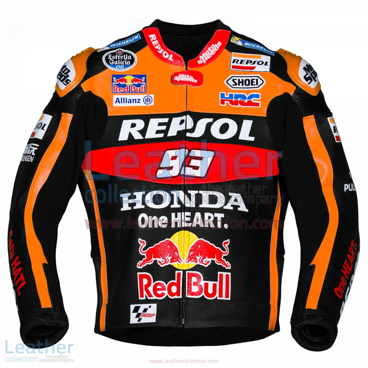 Marc Marquez 93 Honda Repsol Black Jacket 2017