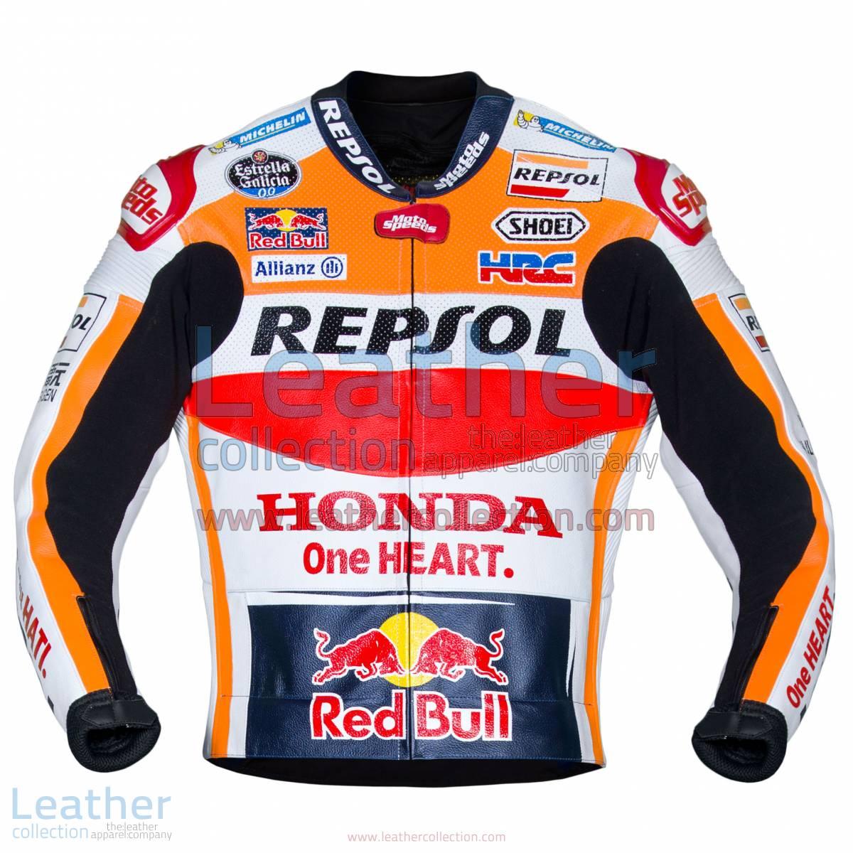 Marc Marquez Honda Repsol MotoGP 2017 Leather Jacket