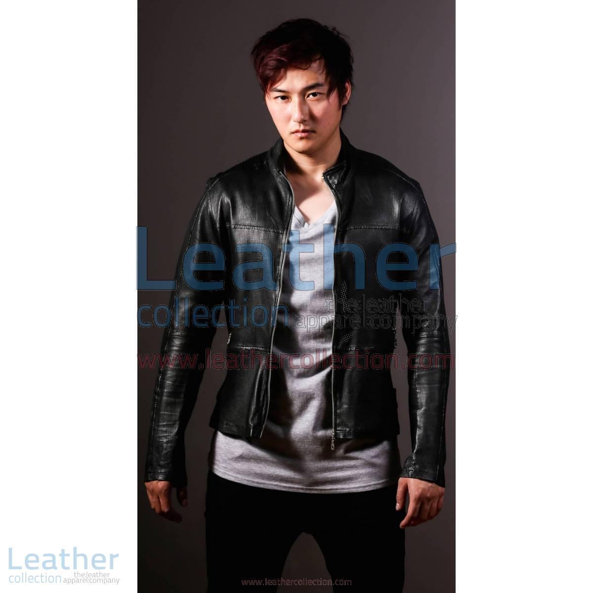 Men Leather Fashion Steel Jacket