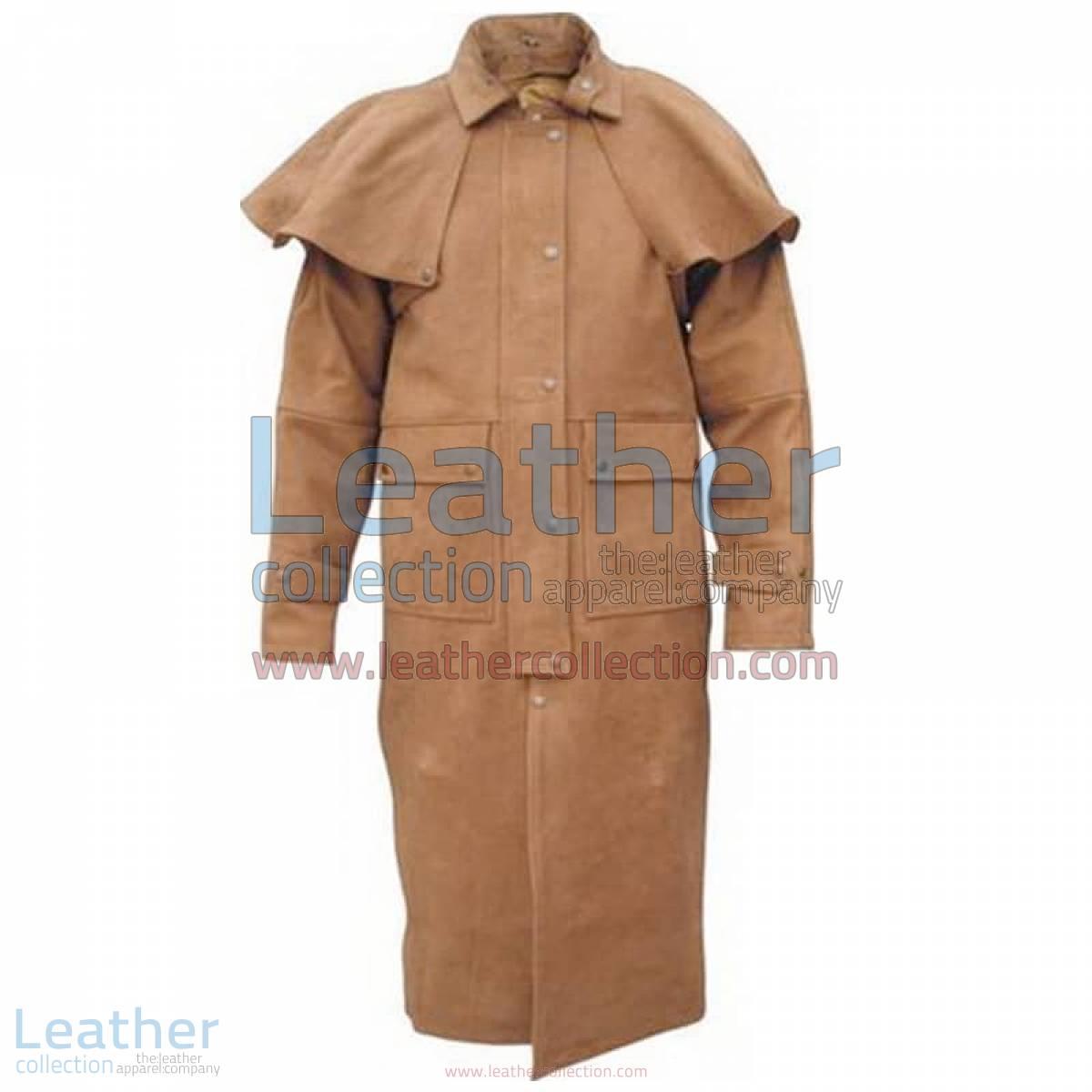 Men's Brown Duster Coat