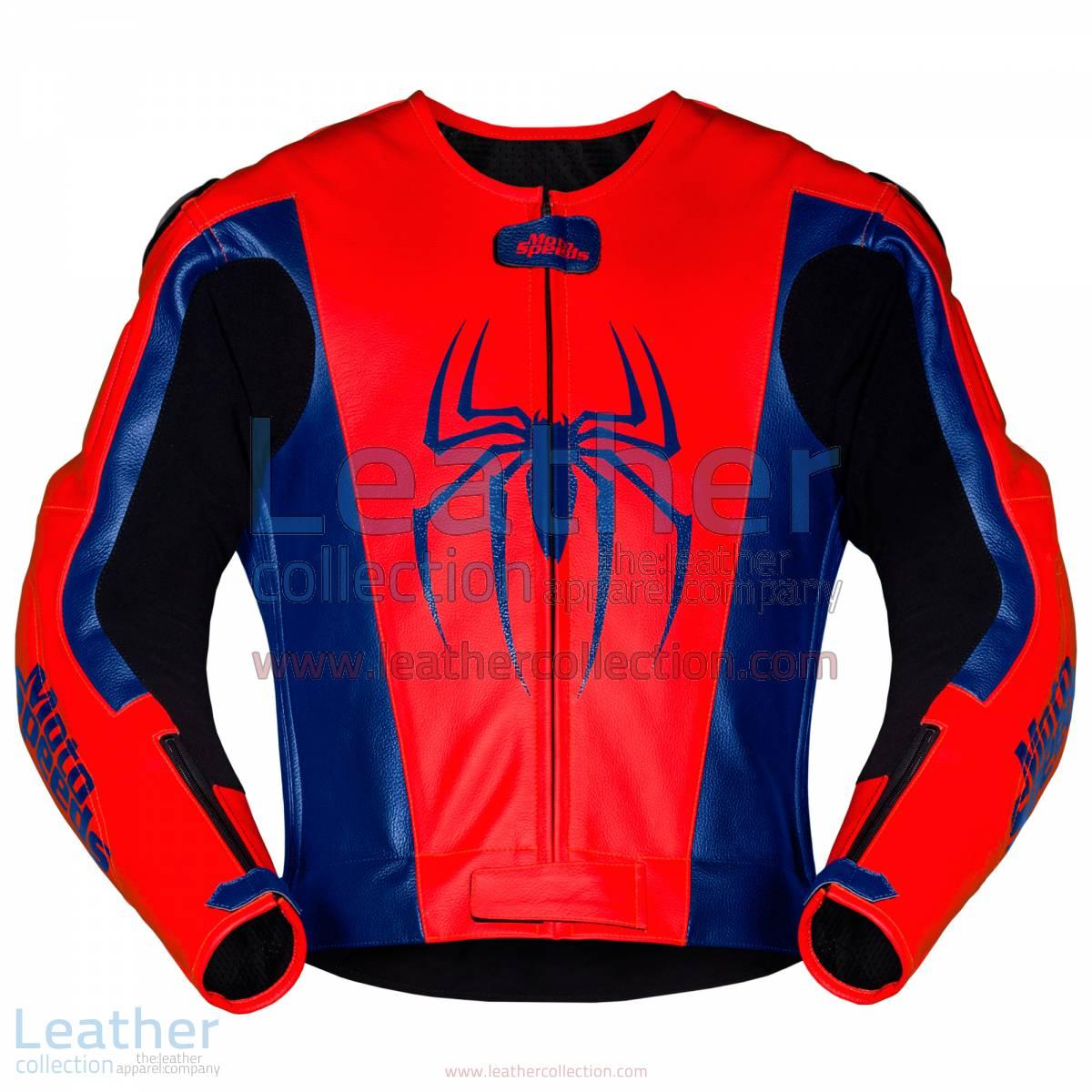 Spiderman Leather Motorcycle Jacket