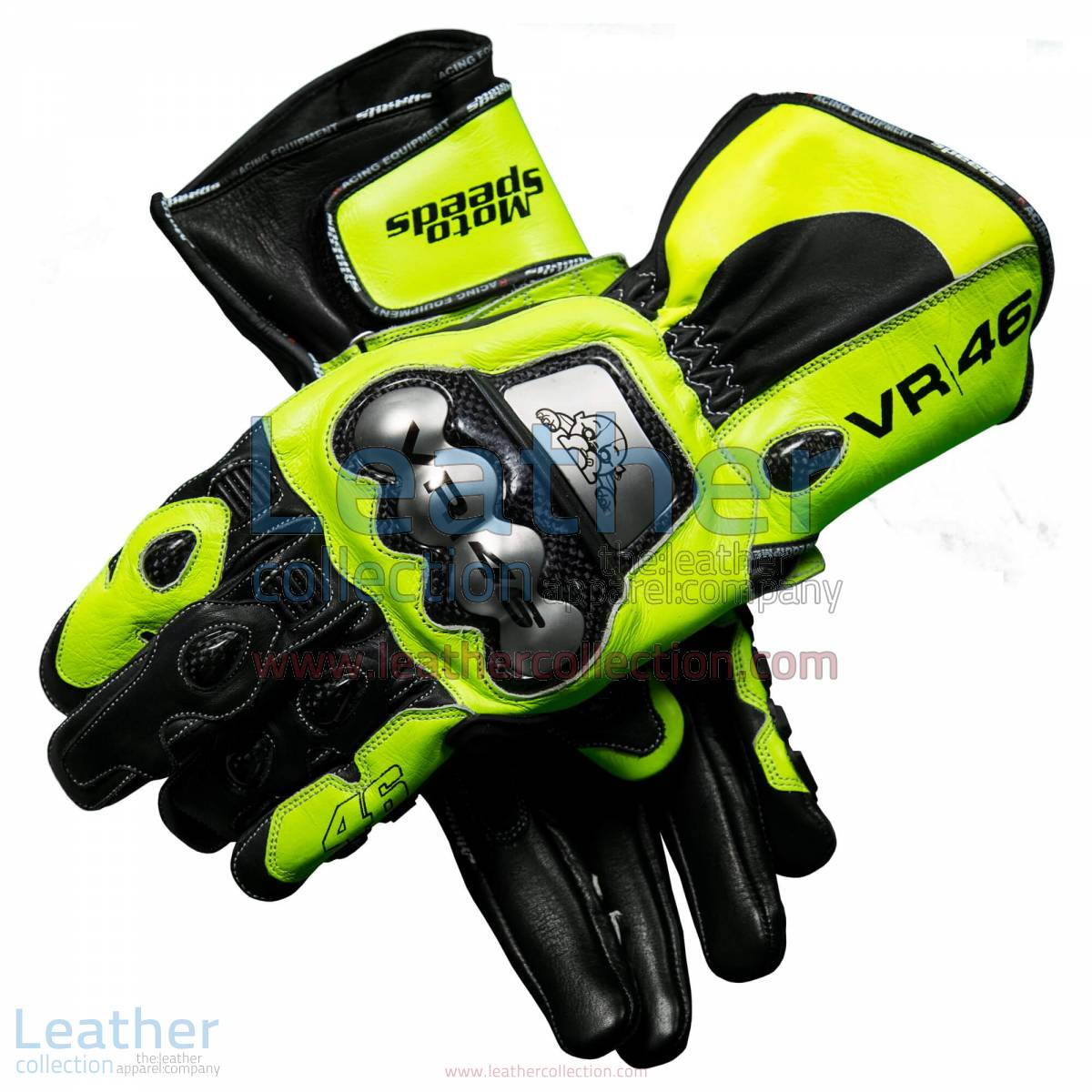 Valentino Rossi 2018 MotoGP Leather Gloves