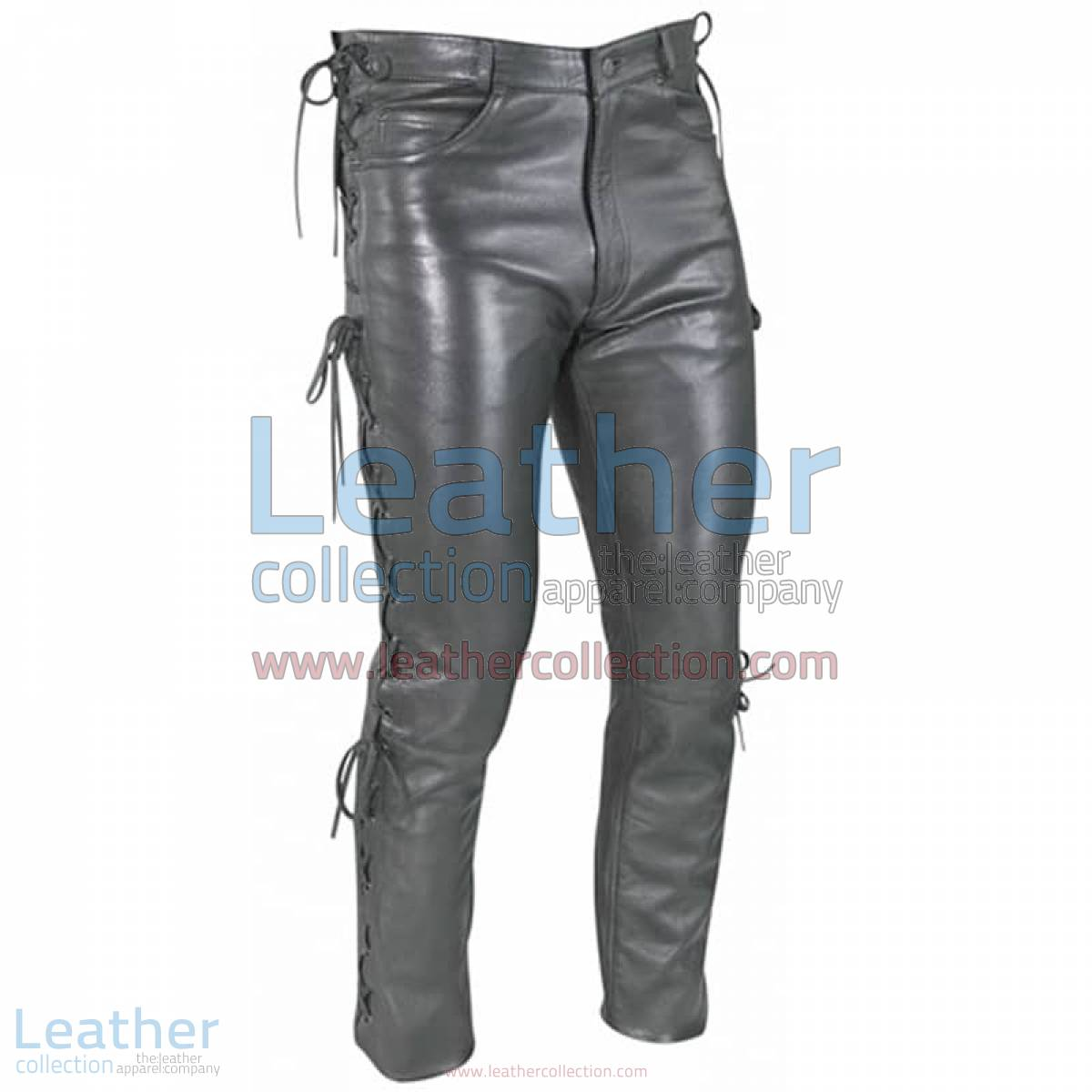 Women Leather Lace Pants