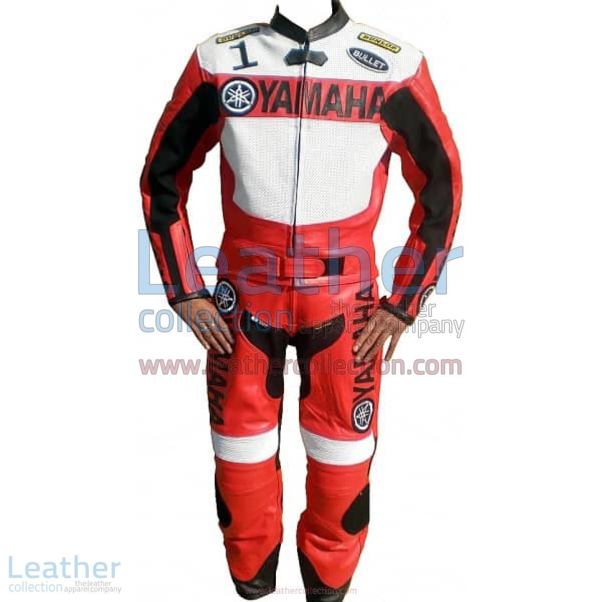 Yamaha Motorbike Leather Suit Red / White
