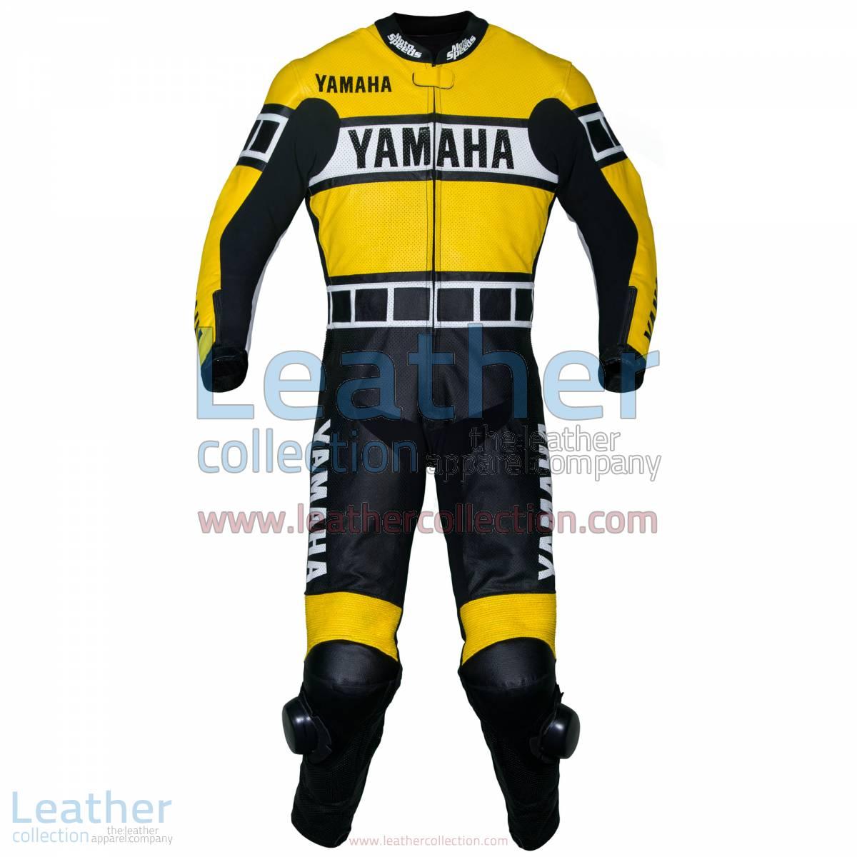 Yamaha Racing Leather Suit Yellow