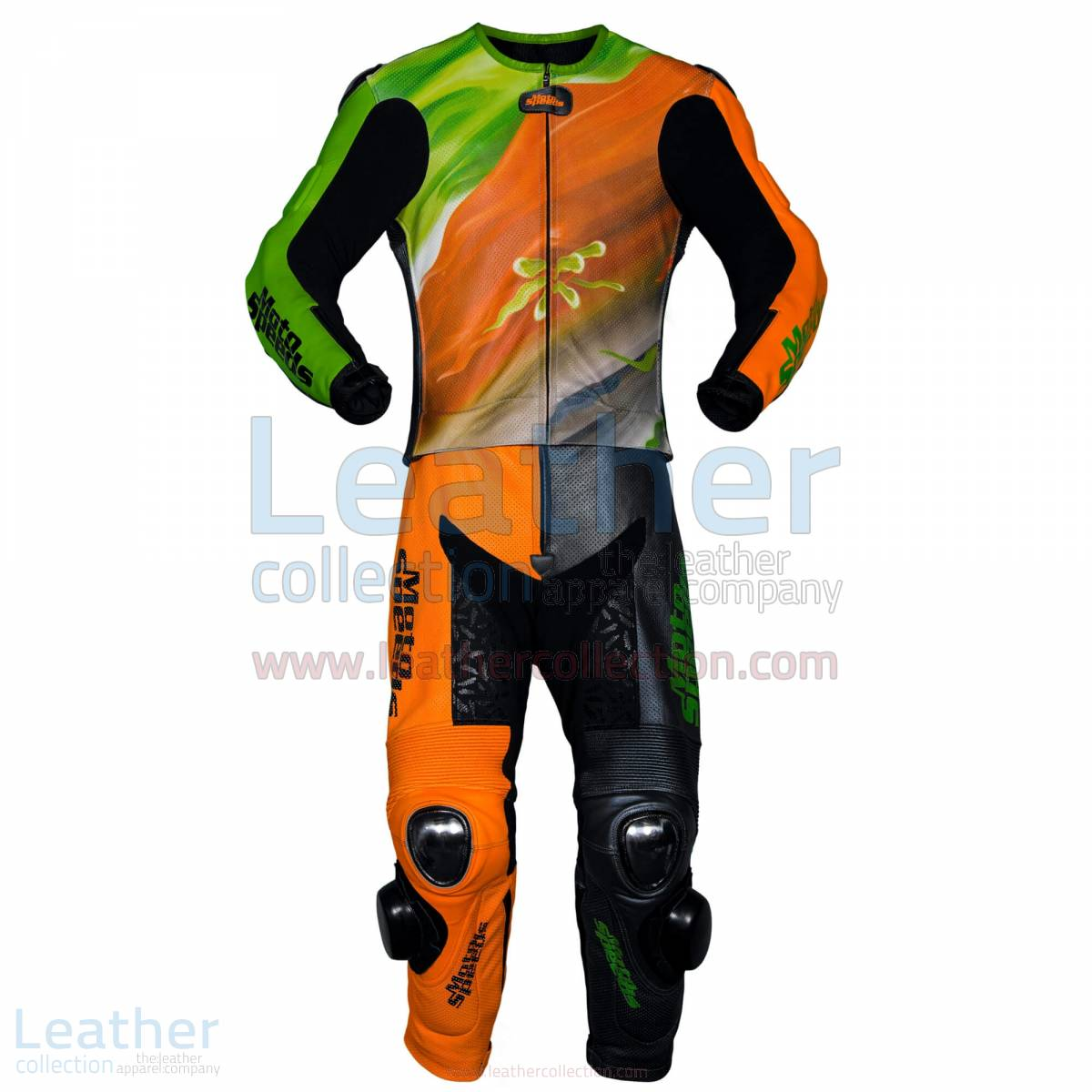 Abstract Race Leather Riding Suit