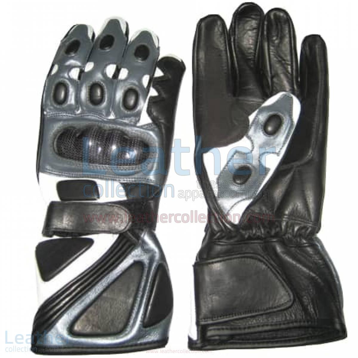 Bravo Grey Motorbike Race Gloves