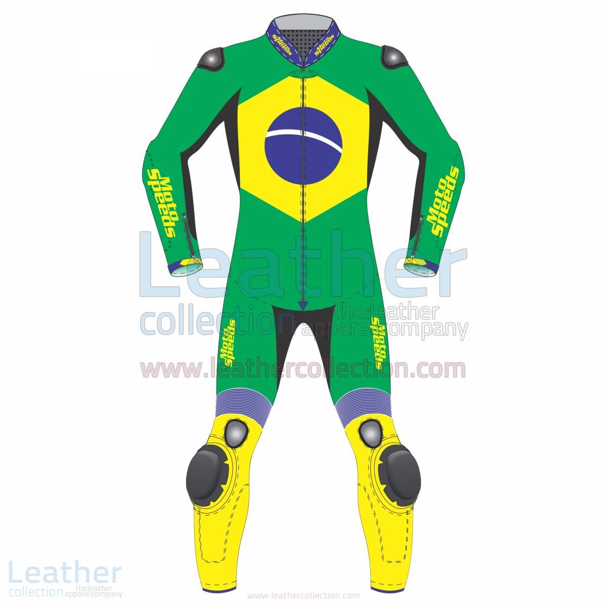 Brazil Flag Moto Race Suit