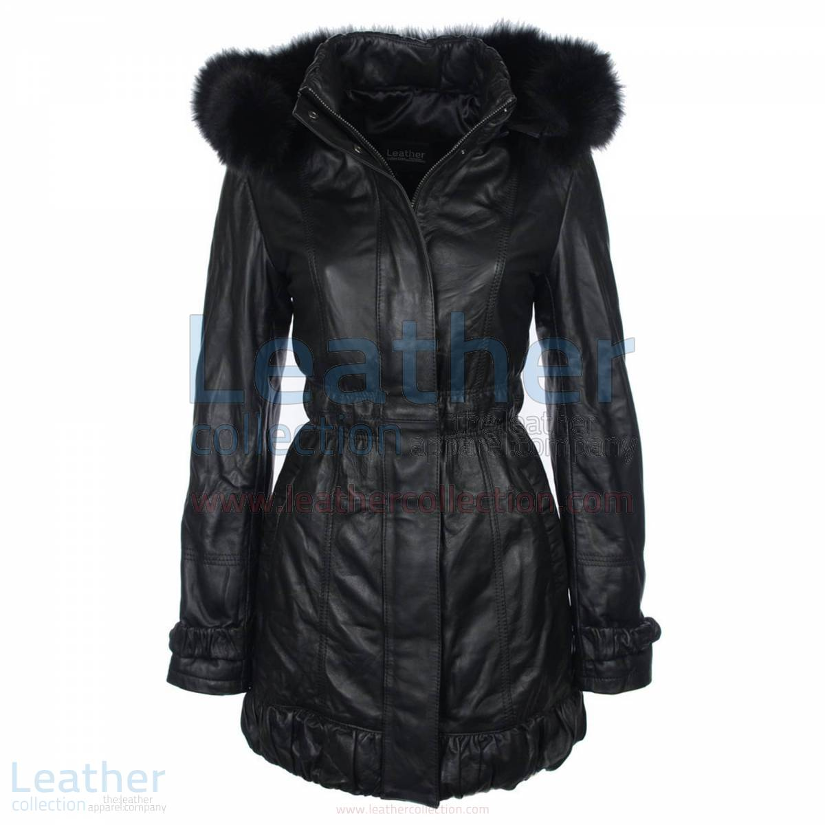 leather coat women