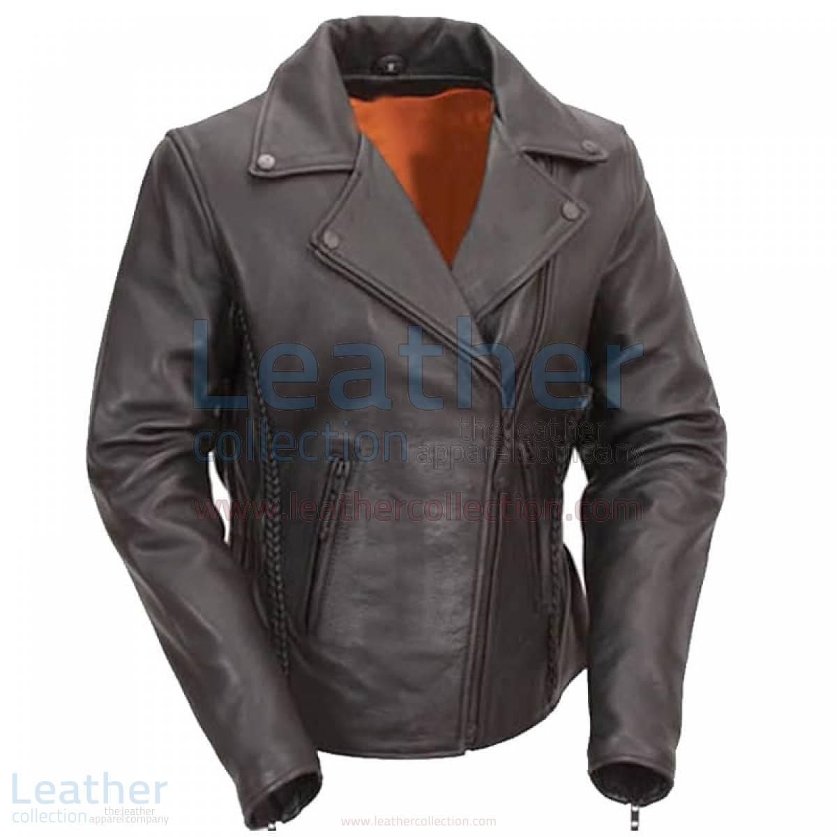 buy leather biker jacket