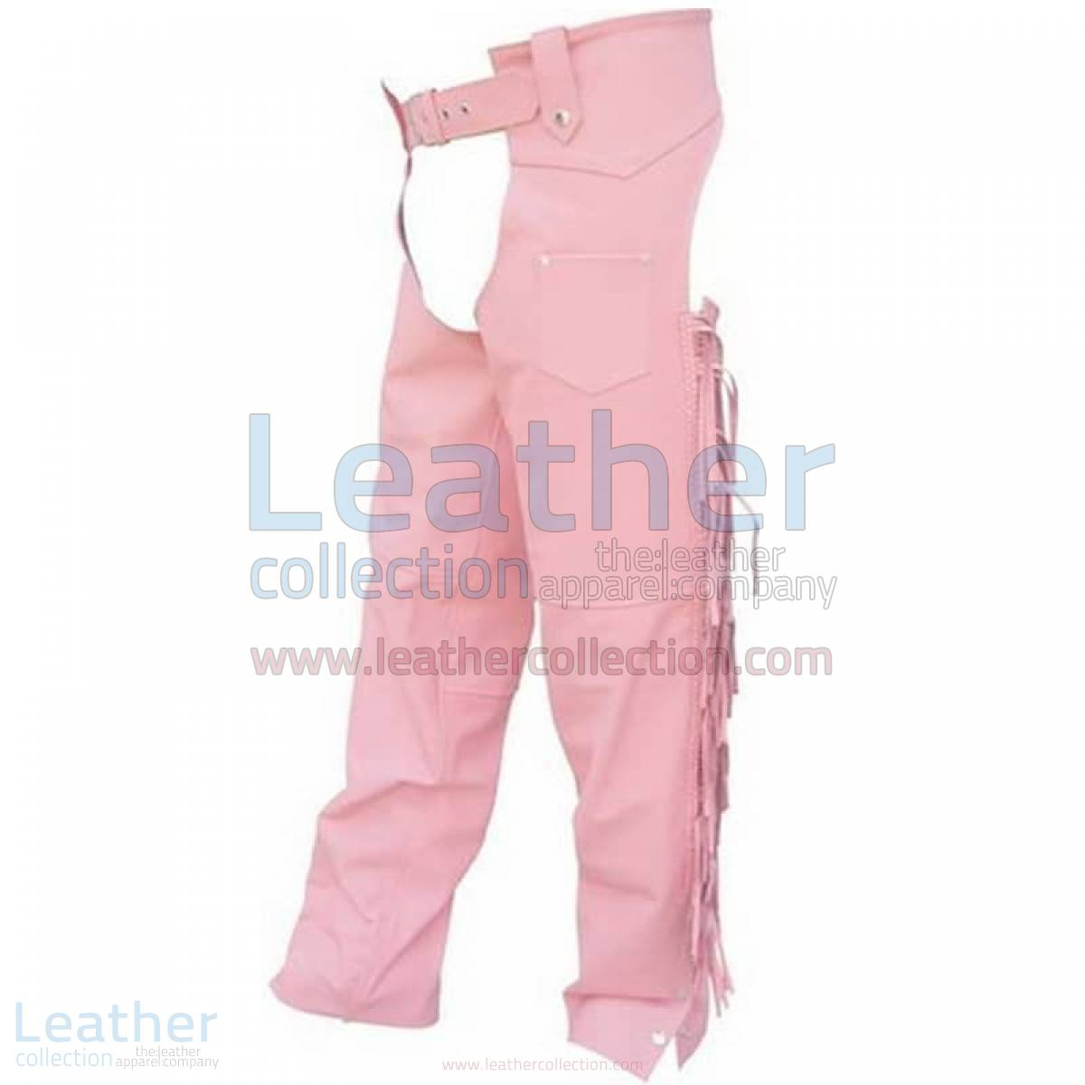 Ladies Pink Braided Leather Chaps