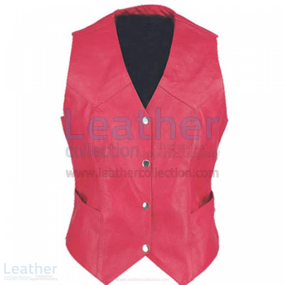 Ladies Vintage Fashion Leather Vest