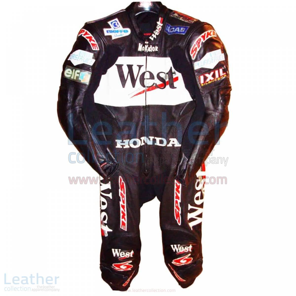 Loris Capirossi Honda GP 2001 Motorcycle Leathers
