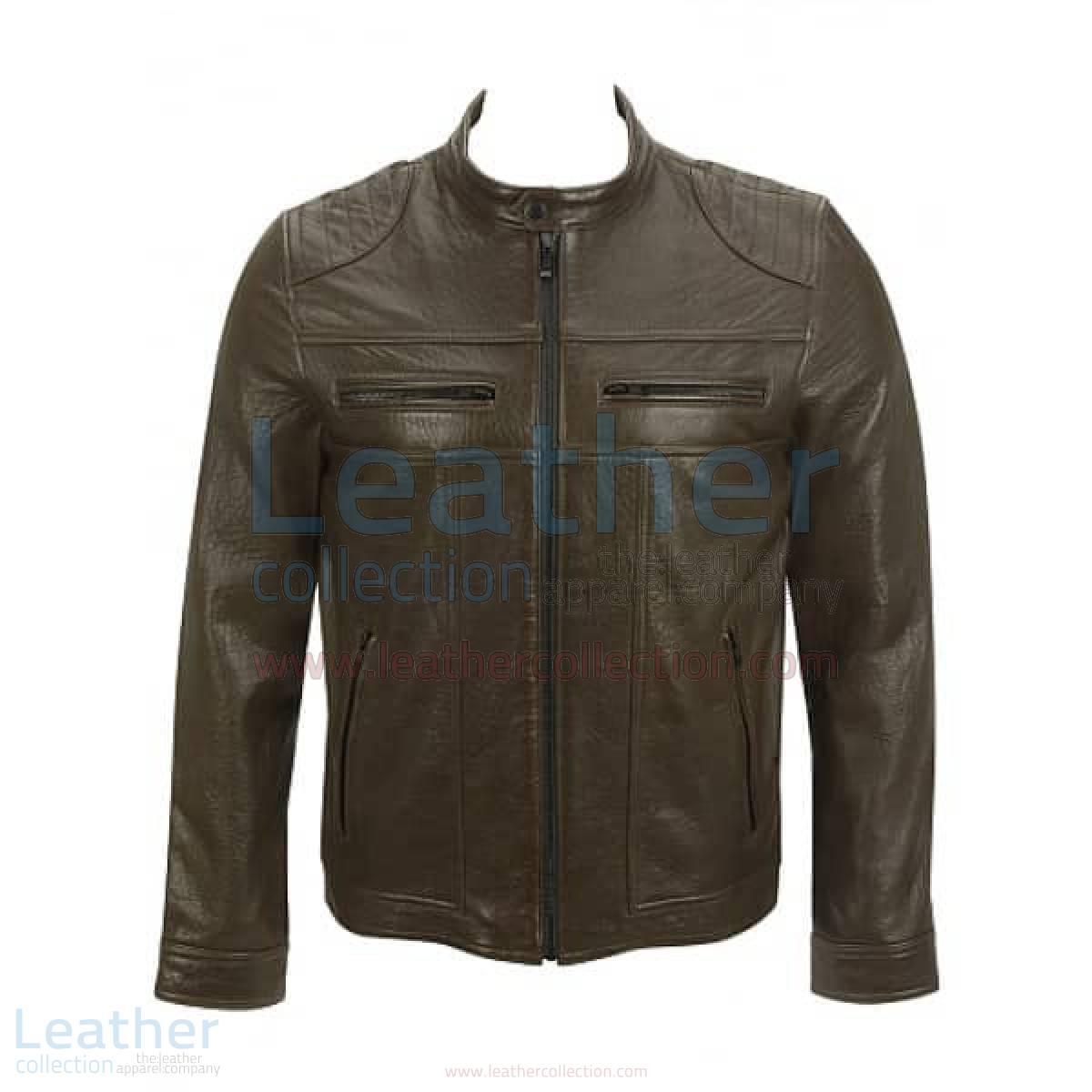 Saddle Shoulder Antique Leather Jacket