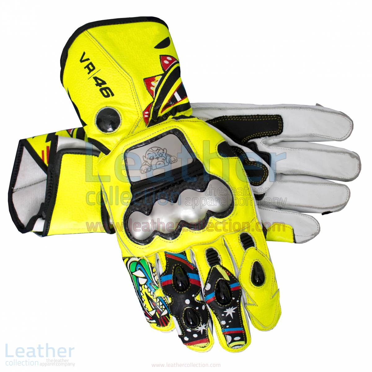 valentino rossi 2010 motorcycle gloves