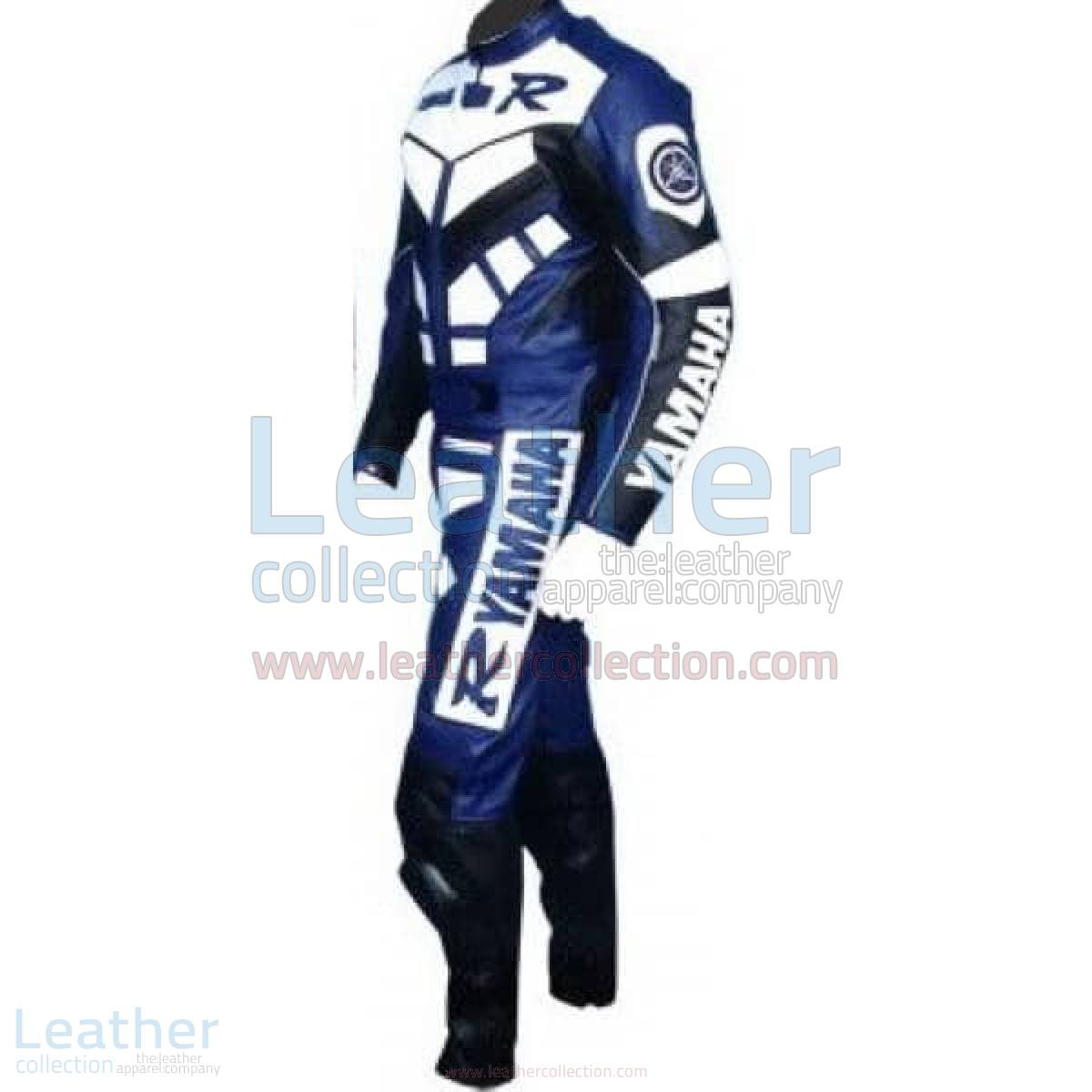 Yamaha R Racing Leather Suit Blue