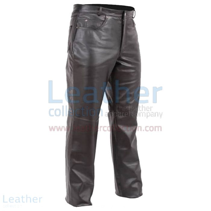 5 Pocket Jeans Style Motorcycle Pants front view