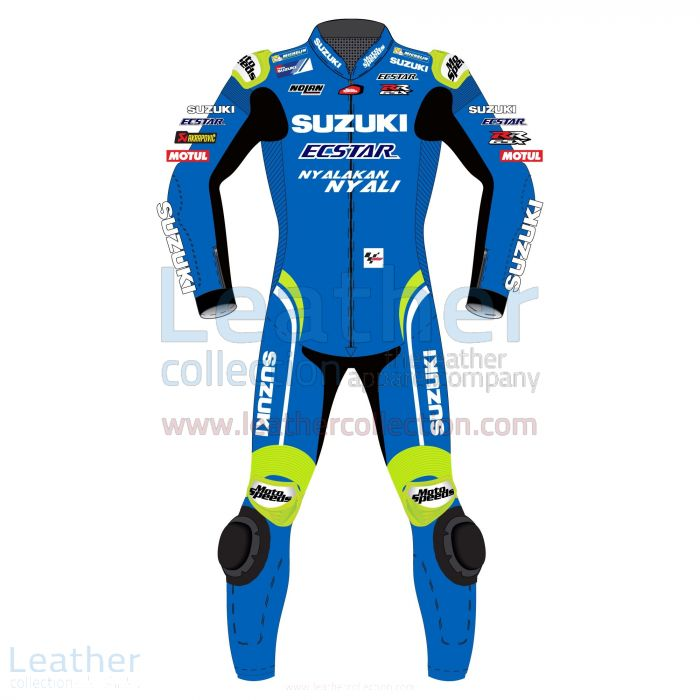 Alex Rins Suzuki MotoGP 2018 Leather Suit front view