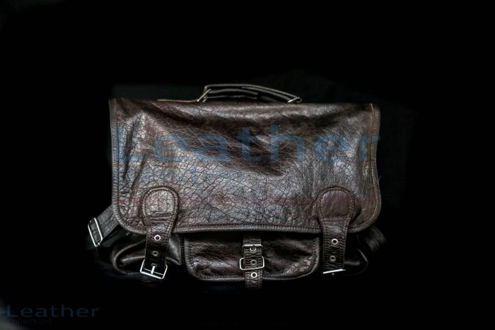 Alexzander Messenger Leather Bag front view