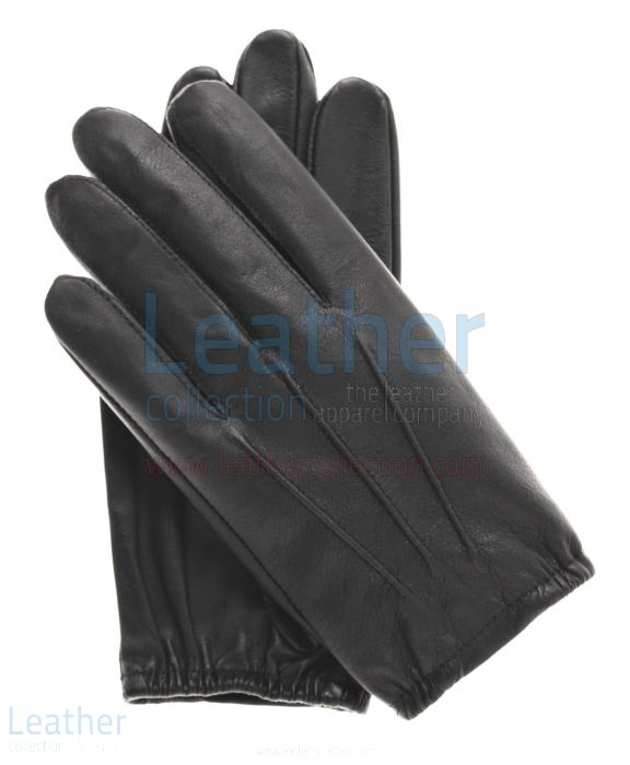 All Purpose Winter Leather Gloves upper view