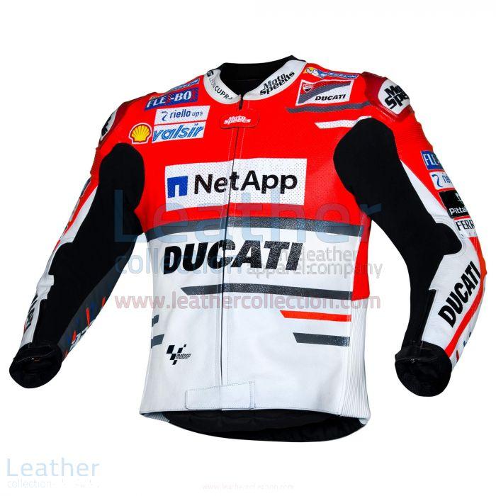 Andrea Dovizioso Ducati MotoGP 2018 Leather Jacket left view