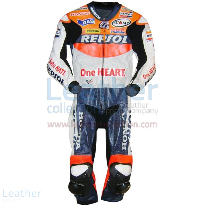 Andrea Dovizioso Repsol Honda 2010 MotoGP Leathers front