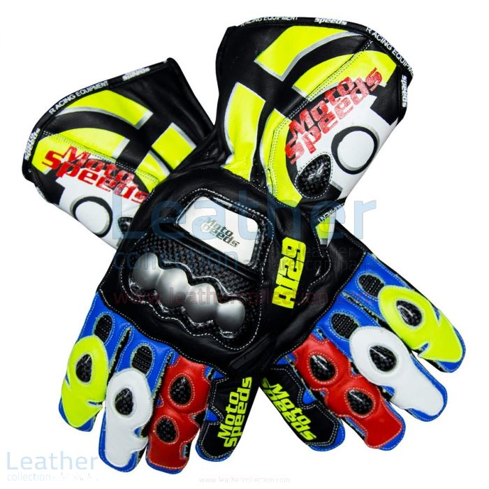 Andrea Iannone 2019 Leather Motorcycle Gloves upper view