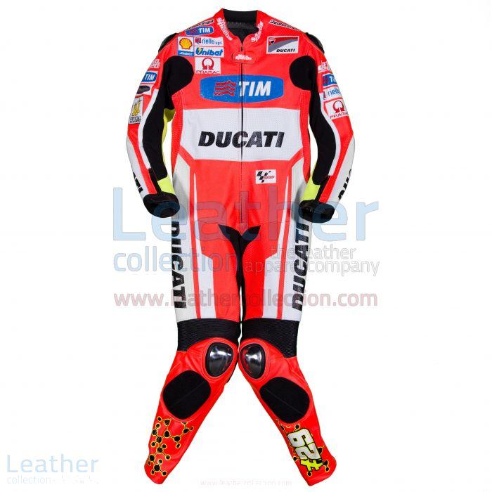 Andrea Iannone Ducati MotoGP 2015 Ducati Rennanzug Vorderansicht