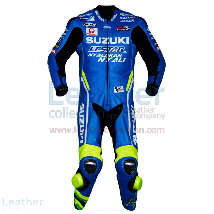 Andrea Iannone Suzuki MotoGP 2018 Leather Suit front view