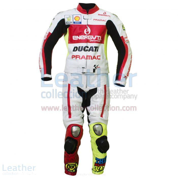 Andrea Iannone Ducati 2013 Leder kombi Vorderansicht