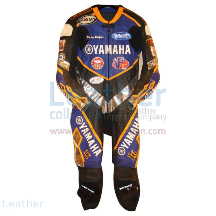 Anthony Gobert Yamaha Leathers 2002 AMA front view
