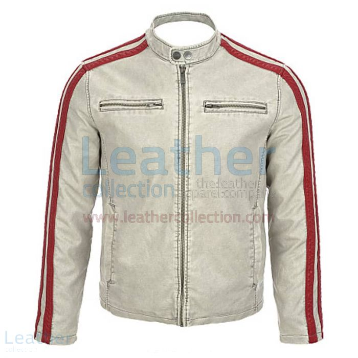 Antique Leather Jacket for Men front view