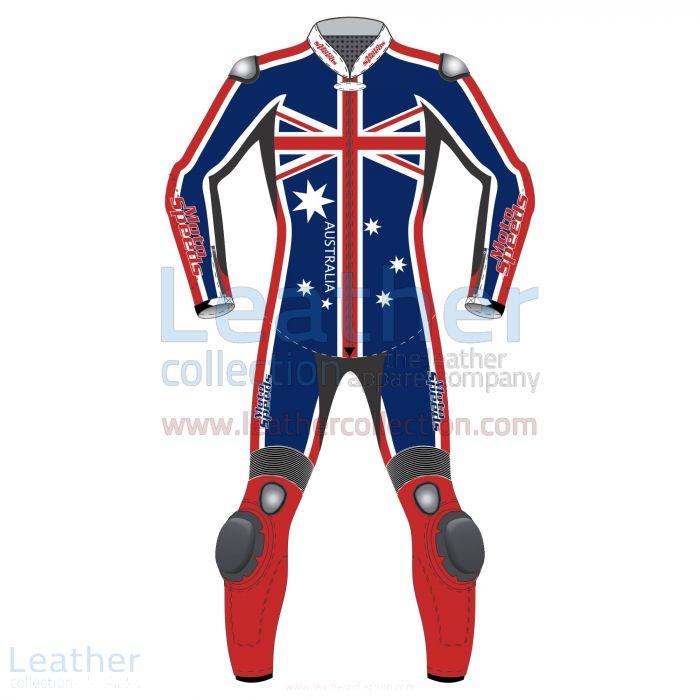 Australian Flag Moto Racing Suit Front View
