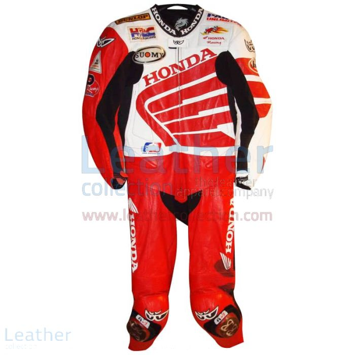 Ben Bostrom American Honda 2004 AMA Leathers front