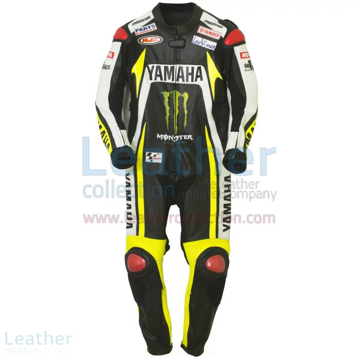 Ben Spies Monster Yamaha 2010 motorbike Leather Suit front