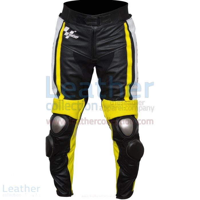 Ben Spies Yamaha Monster 2010 Leather Motorcycle Pants front view