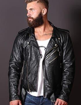 chaqueta moto cuero